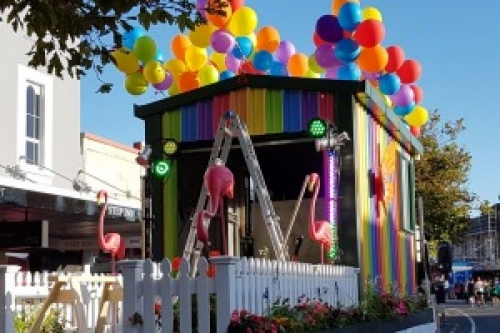 Fletcher Building rainbow shed helps Rural Rainbow Youth